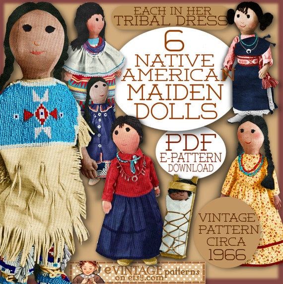 Nähen Sie niedliche Puppen Native American Indian Puppen Tuch