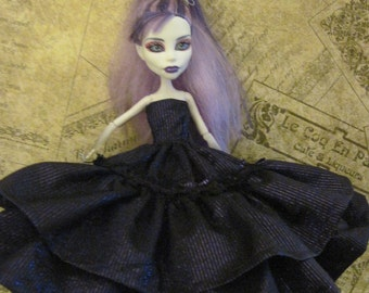 Purple Gown Dress for Monster High Doll Ruffle Gown for Monster High MH purple gown for doll handmade