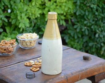 Antique Salt Glazed Midland Pottery Melling 7 Beer Bottle