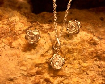 Rose necklace.925 silver