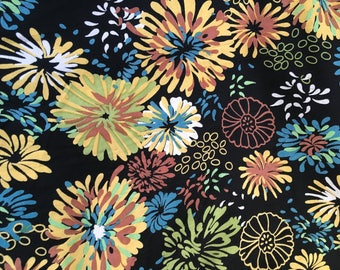Spray Rayon Challis Floral Fabric by the Yard, Fabric by the Yard, Fabric Yardage