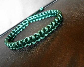 Friendship/Brazilian green adjustable bracelet
