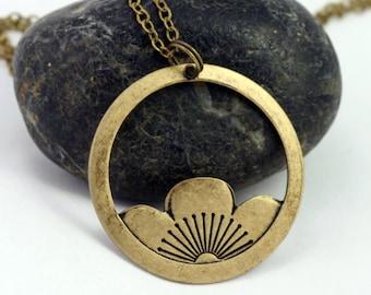 Lotus Anhänger Halskette
