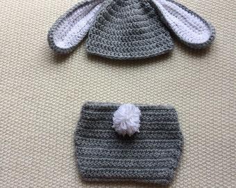 Baby Bunny Halloween, Bunny Baby Set, Boy Bunny Bonnet, Baby Bunny Costume, Woodland Baby Hat, Bunny Baby Clothes, Baby Girl Bunny Hat