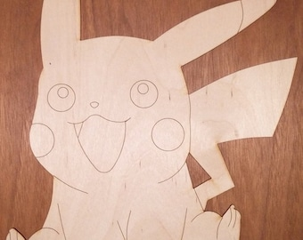 Pokemon-Pikachu cut out 1/8 x 8 x 11 3/4