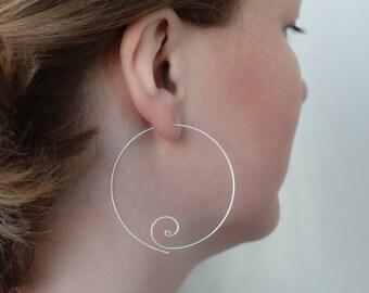 Silver Hoop Earrings Big Hoop Earrings Large Hoop Earrings Everyday Jewelry , 2 Inch , Hoop Earings , Silver Hoops , Gift For Her