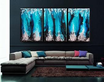Extra large wall art, Turquoise Painting , Large contemporary art, wall hanging gift decor, modern art, artwork, original fine art Nandita