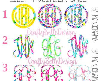 Lilly Pulitzer inspired Monogram Sale | Monogram Sale | Lilly Pulitzer inspired Decals | Flash Sale Monogram | Monogram Decals | Yeti Decals