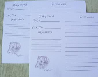 Recipe cards baking recipe cards elephant baby food recipe recipe cards baking recipe card baby food recipe card elephant recipe card forumfinder Choice Image