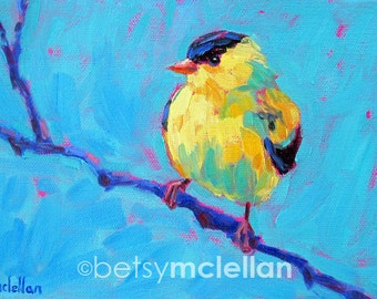 Goldfinch - American Goldfinch - Bird Art - Paper - Canvas - Wood Block - Giclee Print