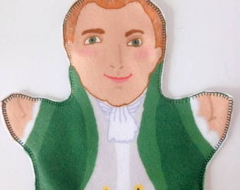 RESERVED FOR CARLOS Stately Thomas Jefferson puppet for Children's History
