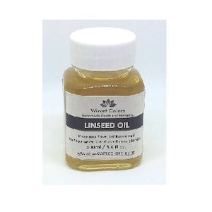 Wizart Colors Linseed Oil for Oil Painting Medium