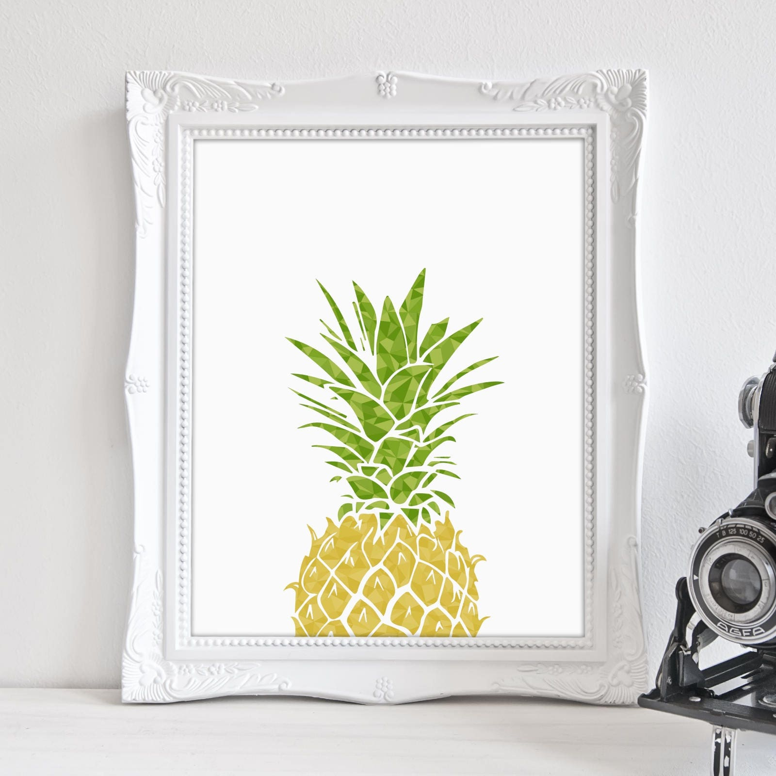 Pineapple Wall Art Pineapple Print Tropical Print Yoga Wall