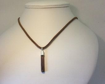 bronze coated raw quartz shard necklace