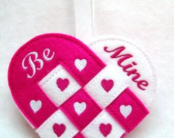 In the Hoop Valentine Basket, In-the-Hoop Valentine's Basket, ITH Heart Basket, In the Hoop Embroidery Design Instant Download