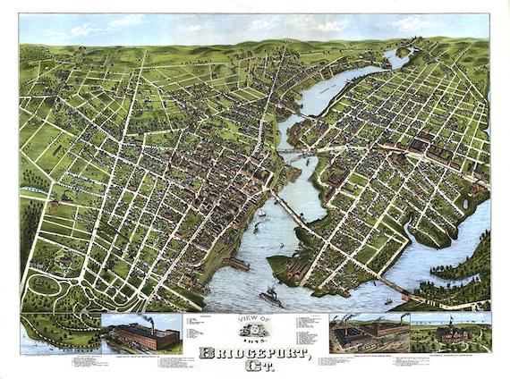 Bridgeport fairfield county conn connecticut ct 1875 like this item gumiabroncs Images