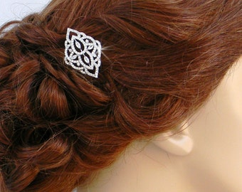 Bridal Hair comb, Rose Gold Bridal Hair clip, Swarovski, crystal hair comb, Rhinestone hair comb, MacKenzie Hair Comb