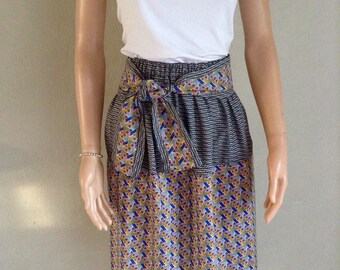 Matching cotton summer skirt wax ethniqiue 44/46/48