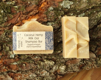 Coconut Milk Shampoo Bar - Solid Shampoo Bar - All Natural Shampoo - Organic Palm Free  Vegan Shampoo - Zero Waste Shampoo Soap