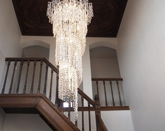 Design Chandelier: ' Spiral lamp ' with Swarovski crystals-24 lamps