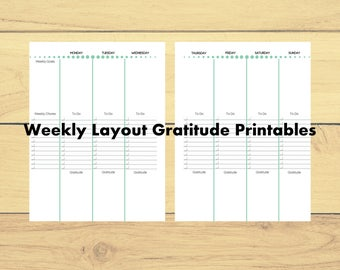 Classic Happy Planner Weekly with Gratitude Printable, Happy Planner Printable, Happy Planner Gratitude, Weekly Planner Printout