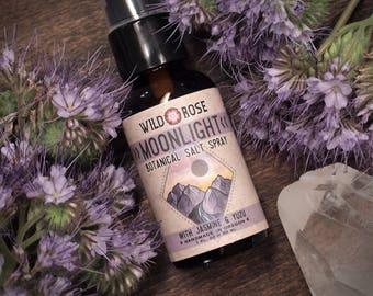 Organic Perfume Spray - MOONLIGHT - Botanical Salt Spray Hair Texturizer with Jasmine - 1oz//30ml