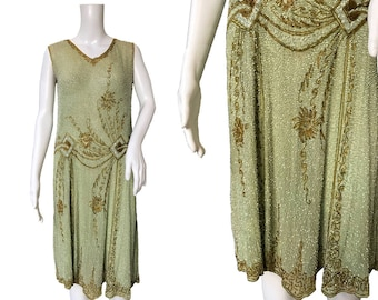 1920s Beaded Dress - Cotton Muslin