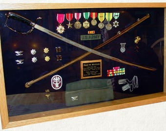 Single Sword Or Saber Display Wall Mount Includes Military