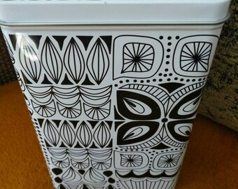 Mid century inspired Ikea canister.