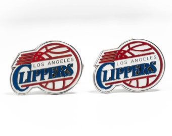 Los Angeles Clippers Cuff Links -- FREE SHIPPING with USPS First Class Domestic Mail