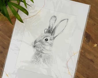 A4 Limited Edition Rabbit Art Print