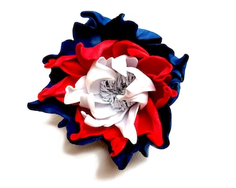 July 4th accessories shop for summer trend celebrate summer gift for patriotic american bow blue white red hair patriotic pin girls hair bow