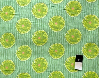 Amy Butler CDAB02 Soul Blossoms Delhi Blossoms Grass Cotton CORDUROY Fabric 1 Yard