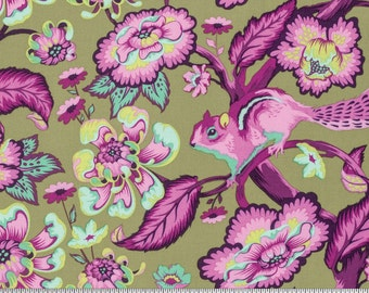 Chipmunk in Raspberry - CHIPPER by Tula Pink for Free Spirit Fabrics - By the Yard