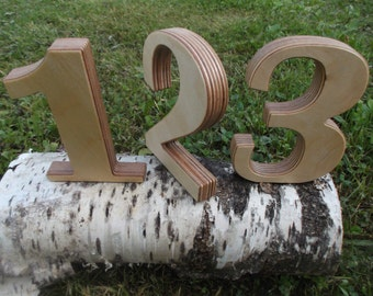 1-12 Rustic table numbers, Rustic Wedding table decoration, Wedding reception decor, Table Numbers, Photo prop, Free standing number, Rustic