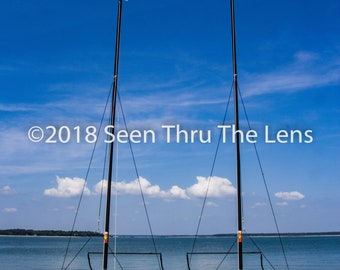 Sailboats on Beach - Photographic Print