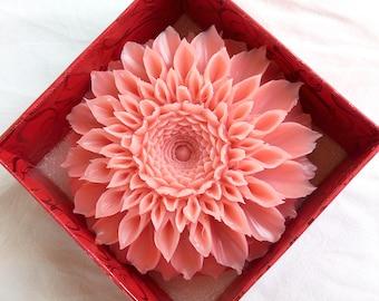 Soap carving, video tutorial, soap carving flower, chrysanthemum soap, carving video class, DIY video project, DIY video class, DIY tutorial