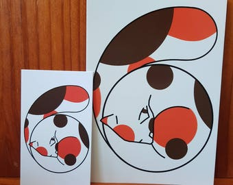 Calico Curl Art Prints