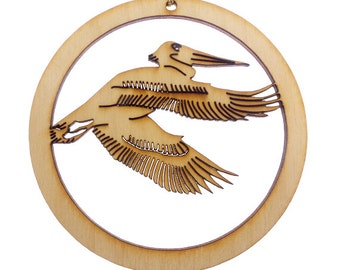 Pelican Ornament - Pelican Ornaments - Pelican Christmas Ornament - Pelican Decorations - Pelican Gift - Beach Decor - Personalized Free