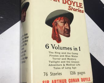 The Conan Doyle Stories: 6 Volumes in 1 by Sir Arthur Conan Doyle rare white vintage detective mystery thriller novels (Hardcover, 1960)