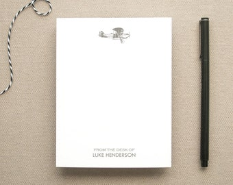 Personalized Airplane Notepad / Small Notepad with Airplane / Personal Notepad / Custom Notepad for a Pilot / Custom Aviation Notepad