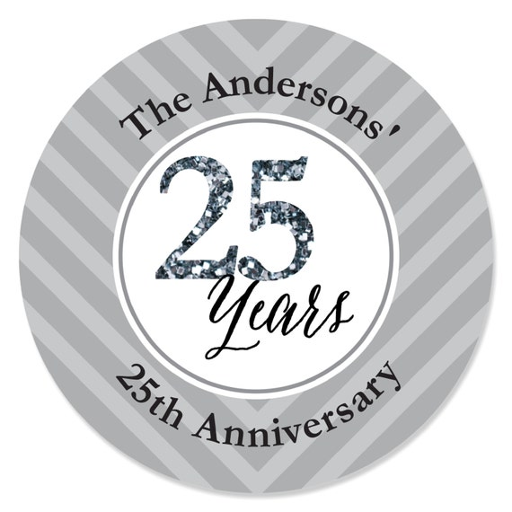 We Still Do - 25th Anniversary Personalized Circle Stickers - Wedding or  Anniversary DIY Craft Supplies - 24 Count
