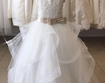 Lace and Tulle Flower Girl and Communion Dress