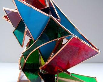 Ostentatious 3D Stained Glass Sculpture