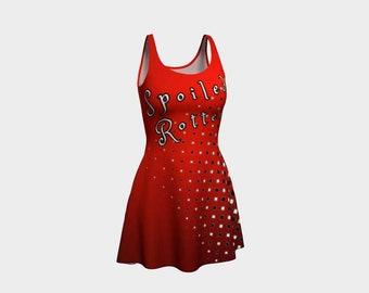 Spoiled Rotten Harlequin Flare Dress