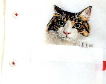 Neko Shirt Cat Embroidered Shirts and Goods - Japanese Craft Book