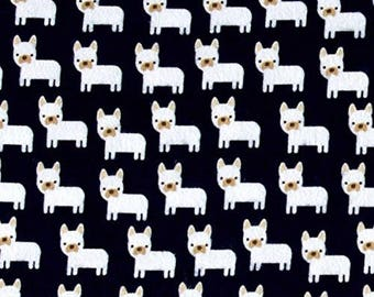 FLANNEL - Mini Puppies on Navy from Robert Kaufman's Urban Zoologie Mini Collection by Ann Kelle