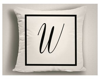 Outdoor Pillows Monogrammed, Personalized Patio Pillows, Large Outdoor Pillow, Outdoor Pillow Cushions