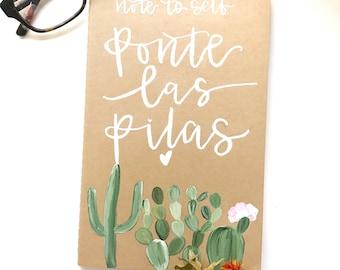 Ponte las Pilas craft Notebook