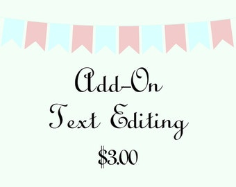 Add-On Text Editing